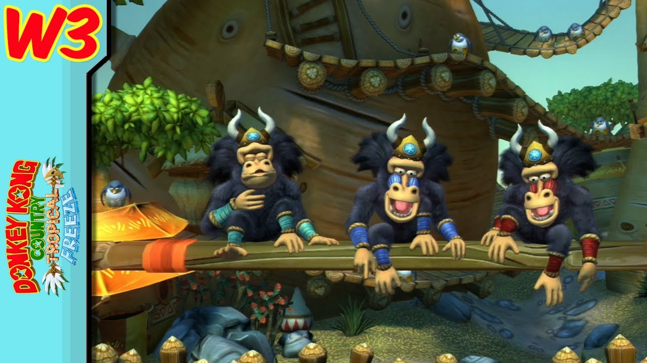 Donkey Kong Country Tropical Freeze : World 3 BRIGHT ...