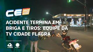 Acidente termina em briga e tiros: Equipe da TV Cidade flagra confusão