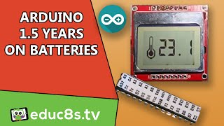 Low Power Arduino Digital Thermometer with DS18B20 and a Nokia 5110! Over 1 year on Batteries!