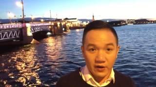 Vlog 39 - Du lich Nga - Cùng ngắm đêm trắng tại St Peterburg vào tháng 6 mùa hè