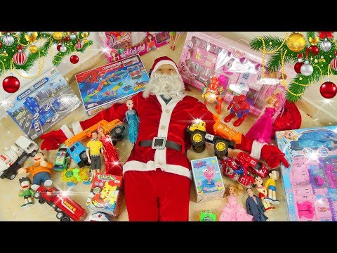 LEARN COLORS FOR KIDS with Santa Claus Noel and Christmas toys for kids