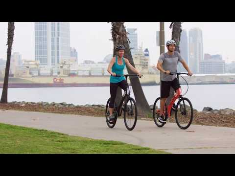 video ElliptiGO RSUB Road Performance Outdoor Stand Up Bike and Best Hybrid Indoor Exercise Trainer