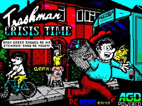RETROJuegos HOMEBREW .... TRASHMAN – Crisis Time para ZX Spectrum - Review por Fabio Didone