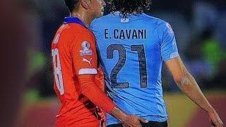 Resumen de las faltas de Uruguay a Chile (+Enfrentamiento Cavani ante Jara) | Copa América
