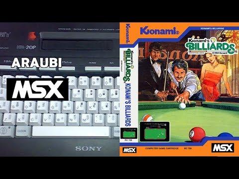 Konami's Billiards (Konami, 1984) MSX [112] El Kiosko