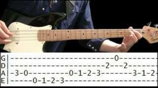 Bass Guitar Lesson - Waltz & Big Jazz Bass Tabs