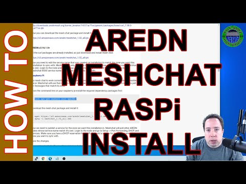 Ham Radio AREDN Mesh Chat - How to Setup MeshChat on a Raspberry Pi