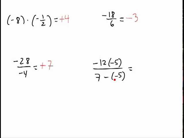 Division of Real Numbers And Dividing Real Numbers