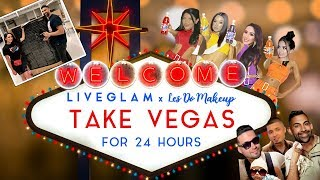 LiveGlam x Les Do Makeup Take Las Vegas For 24 Hours | Dhar and Laura
