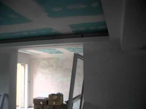 Tecto falso com luz indirecta a volta na parede youtube - Luz indirecta escayola ...