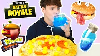 i only ate FORTNITE FOODS for 24 hours !!!