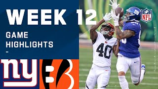 Giants vs. Bengals Week 12 Highlights | NFL 2020
