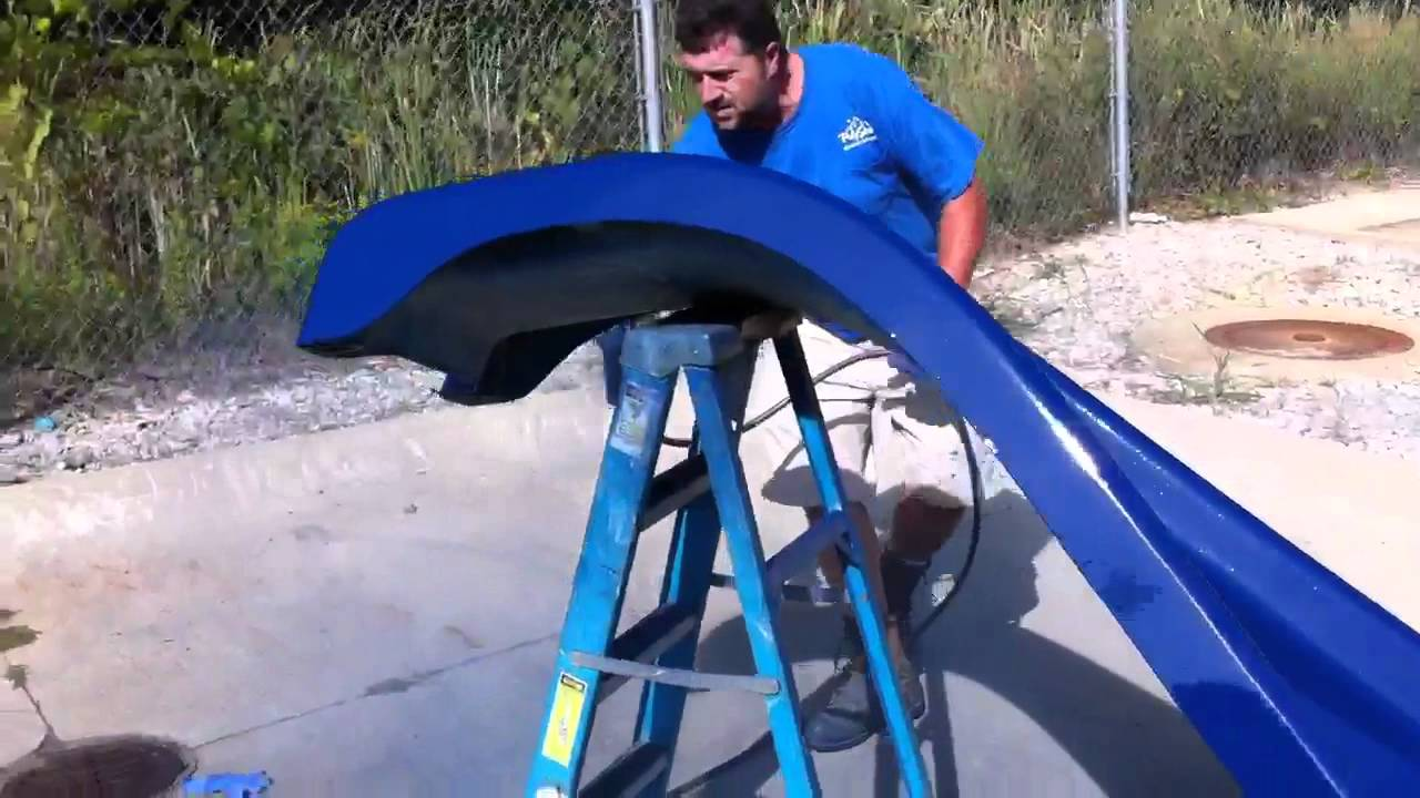 Painting A Pool Water Slide Youtube