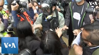 Tempers Flare in Hong Kong as Police Stop Protesters