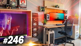 Room Tour Project 246  - CHILL Desk & Gaming Setups!