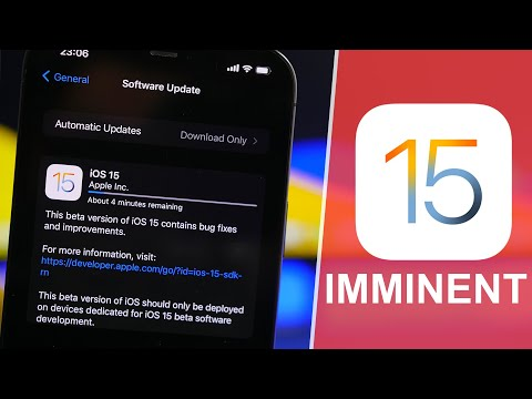 iOS 15 - Release Imminent !