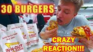 SteveWillDoIt Attempting To Eat 30 Burgers At IN N OUT    REACTION! NELK BOYS FULL SEND
