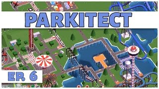 Parkitect - Ep. 6 - The Wooden Coaster  - Let's Play - [Parkitect Gameplay]