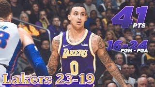 Kyle Kuzma Career High 41 Pts in Win over the Pistons, Lakers Beat The Detroit Pistons 113-100