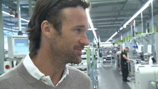 Pete Sampras & Carlos Moya visiting Porsche 918 Spyder Production - Porsche Tennis Grand Prix 2014