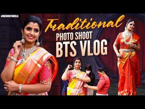 Anchor Syamala shares BTS video of traditional photoshoot