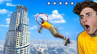 I Found A GRAPPLING HOOK In GTA 5.. (Best Mod)