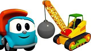 Léo le camion curieux, Max la pelleteuse, la grue et le train