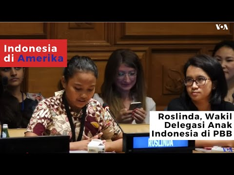 Roslinda, the Delegation of Indonesian Children at the United Nations (2019)