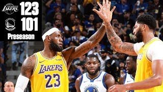Anthony Davis, LeBron James lead Lakers to win vs. Warriors | 2019 NBA Highlights