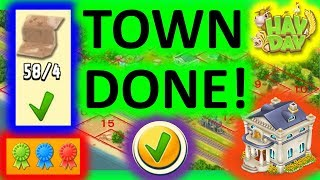 HAY DAY - I UNLOCK ALL THE LAND IN THE TOWN! EXPANSION OF THE TOWN IS COMPLETED! ERNEST FREE FOR 3!