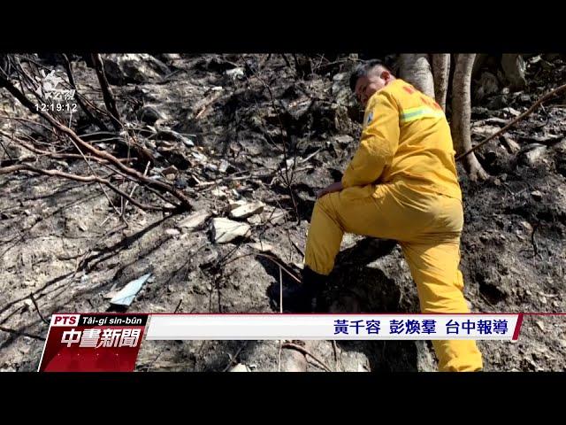 肖楠斷木起火滾落邊坡 中橫便道森林火災
