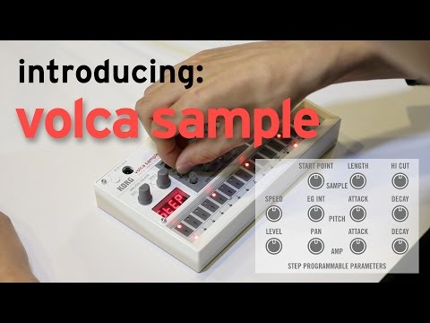 Introducing KORG volca sample