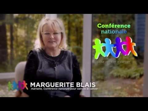 Vidéo : Marguerite Blais devient marraine de la 8e Conférence nationale pour vaincre le cancer