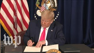 Trump signs executive orders on unemployment, evictions, student loans and payroll tax