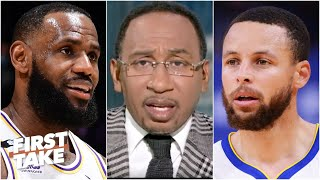 Stephen A. reacts to LeBron saying Steph Curry should win NBA MVP | First Take