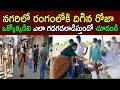MLA Roja inspects social distancing at ration shops in Nagari