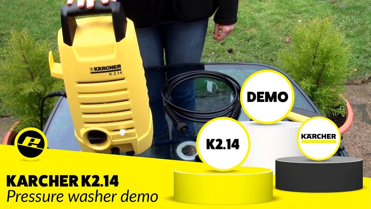 Karcher K2 14 Pressure Washer Demo Youtube