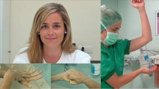 Lavado quirúrgico de manos - Hospital de Barcelona. Centro de Oftalmología Bonafonte.