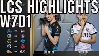 LCS Highlights ALL GAMES Week 7 Day 1 Summer 2019 League of Legends NALCS
