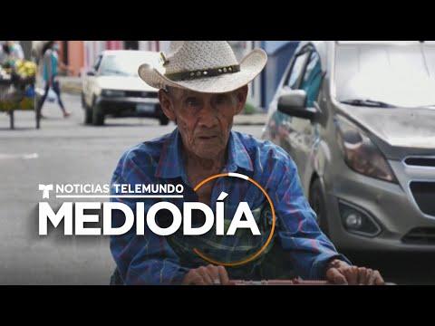 Este hombre ayuda a vendedores en la calle a sobrevivir  | Noticias Telemundo