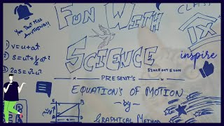 Class 9 | EASY WAY FOR DERIVATION OF EQUATION OF MOTION | FUN WITH SCIENCE| Motion Class 9