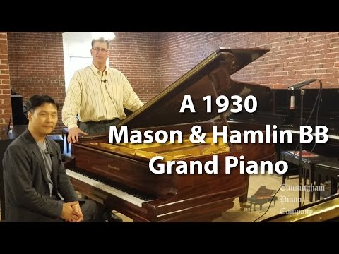 A 1930 Mason & Hamlin BB 7' Grand Piano