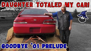 My Daughter Totaled My Car! The CAR WIZARD inspects damage & says goodbye to his 2001 Honda Prelude!