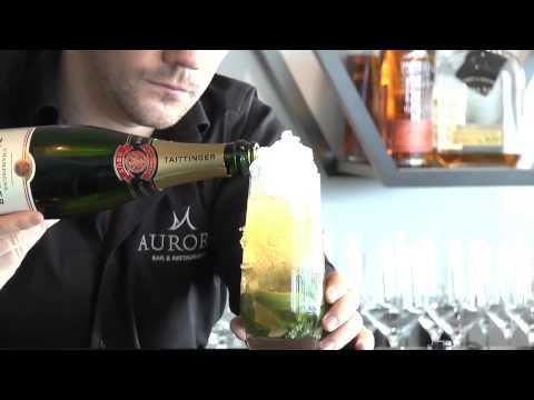 Champagne Mojito at Aurora
