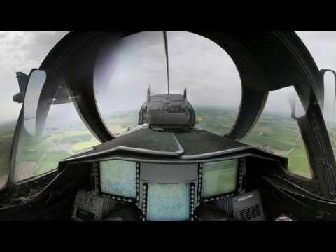 360 video with Gripen pilot
