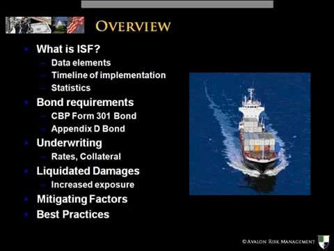 December 18, 2009 - Avalon ISF Webinar