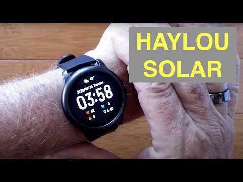 XIAOMI YOUPIN HAYLOU SOLAR IP68 Waterproof Sports Fitness Smartwatch: Unboxing and 1st Look