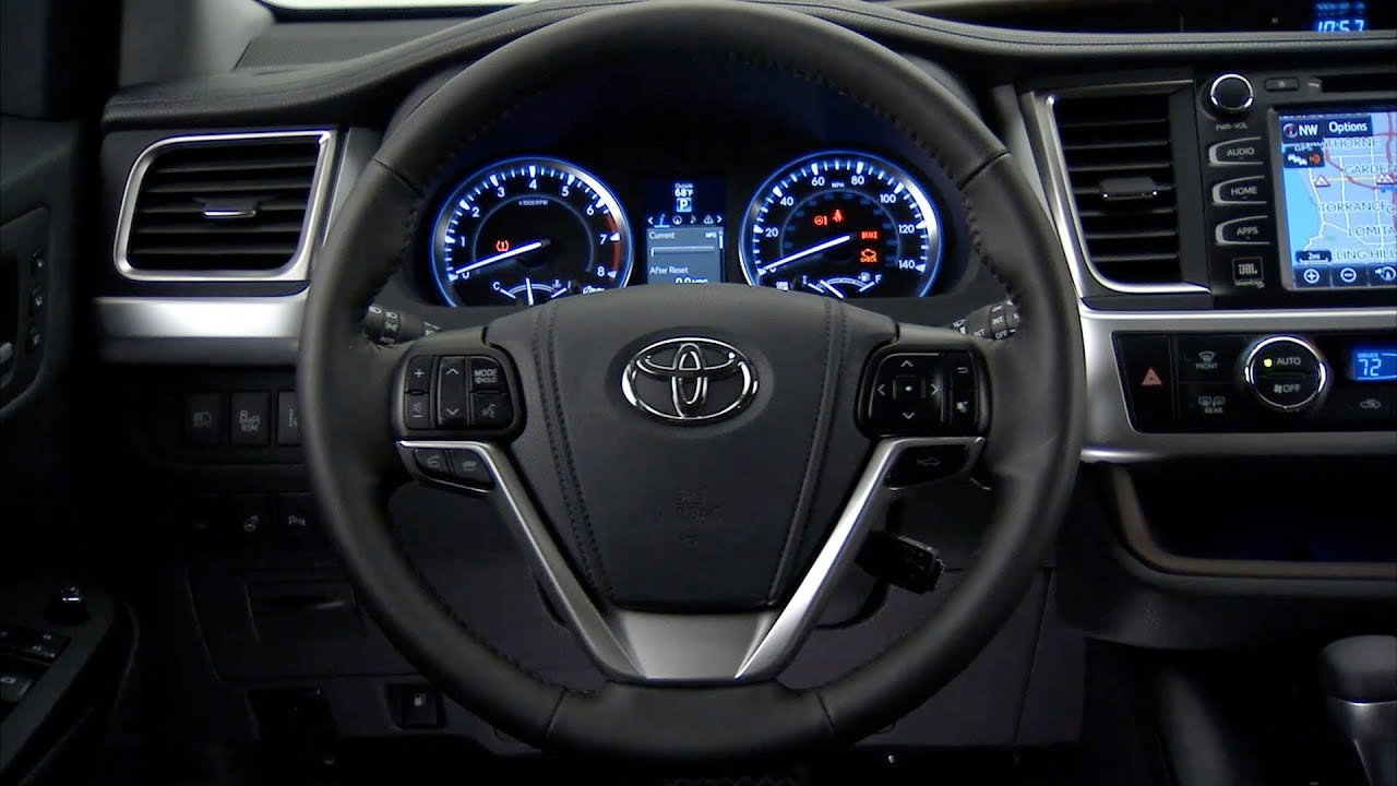 2014 Toyota Highlander INTERIOR - YouTube