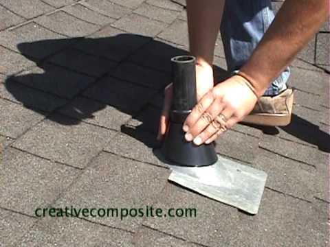 Roof Repair Of Plumbing Vent Pipe Youtube