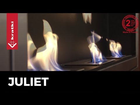 Kratki Biokamin Wandkamin Juliet 1800   silber   JULIET/1800/TUV